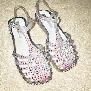Melissa Aranha shoes with Swarovski crystals